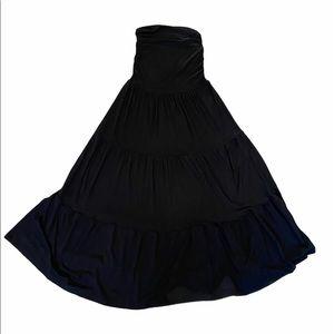Black Strapless Maxi Dress/Skirt Stretch S/M